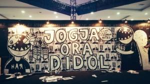 Mural Jogja ora didol  © Warningmagz