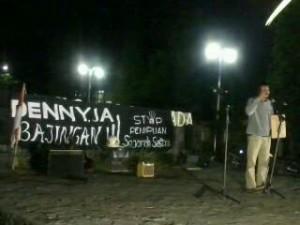 """Aksi """"Denny JA Bajingan! Stop Penipuan Sejarah Sastra"""""""