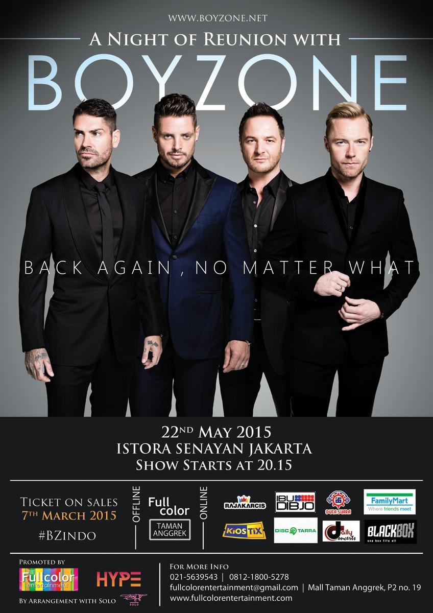 Boyzone Poster Event JKT