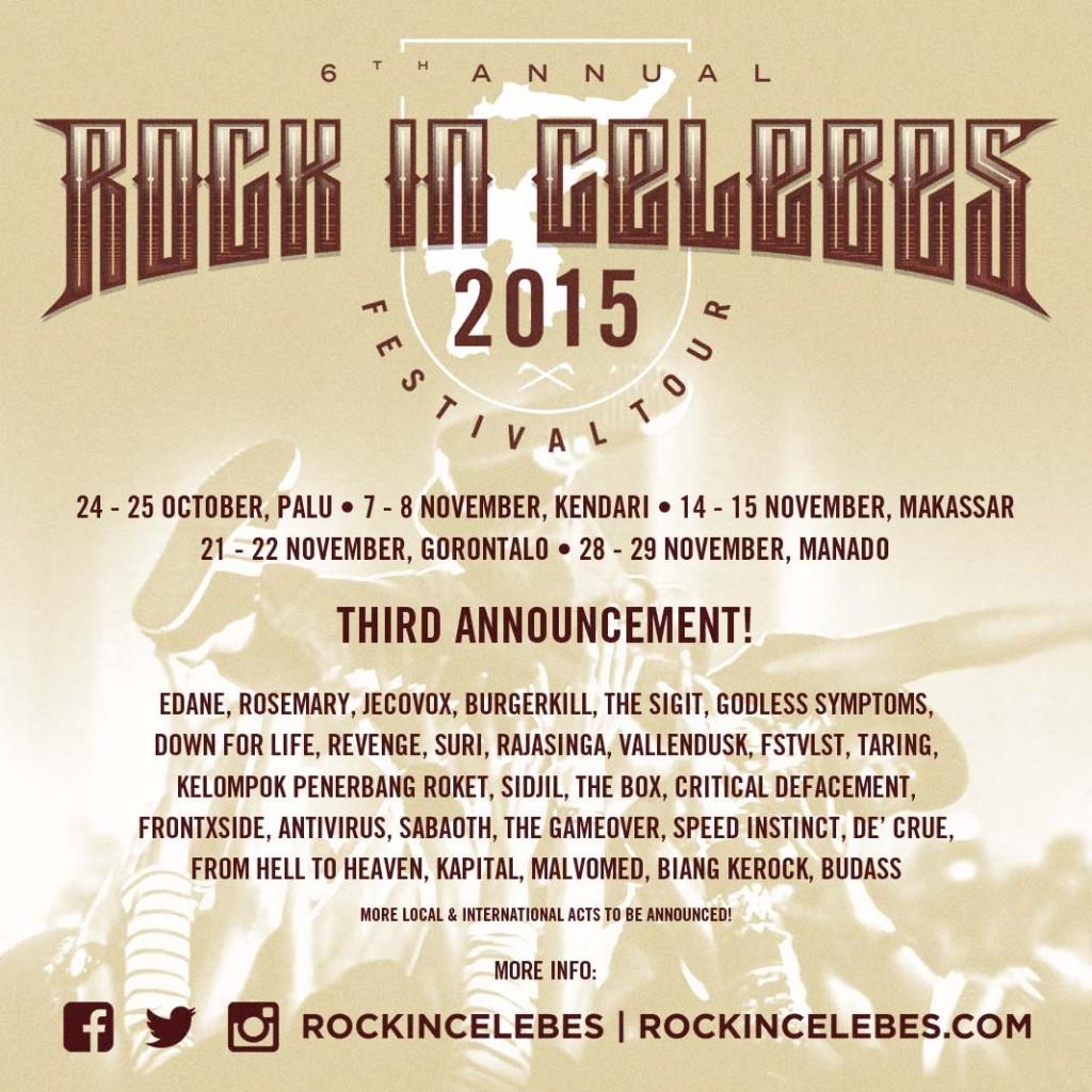 rock in celebes 2015 (sementara)
