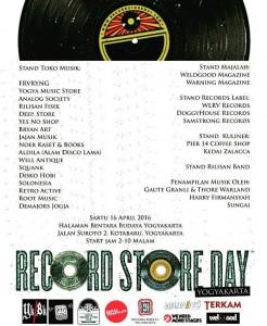 Poster kegiatan Records Store Day 2016