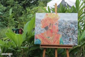 lukisan tentang sampah