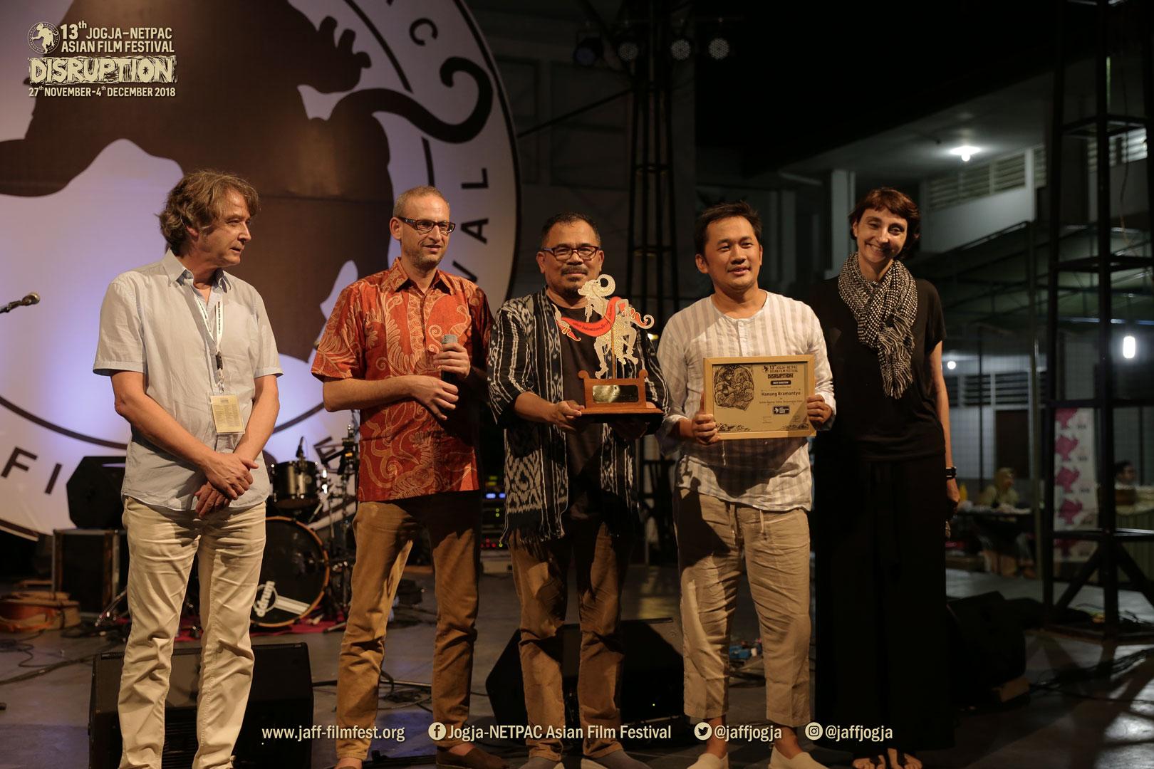 Malam Penganugerahan dan Daftar Pemenang Penghargaan Jogja-NETPAC Asian Film Festival ke-13